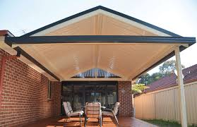 Pitched Roof Pergola Gable Roof Verandah With Stramit Sunset Roof Sheeting  Sample Creative Decorate Amazing Item Create