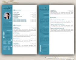 Brilliant Design 2 Page Resume Template Curriculum Vitae Template