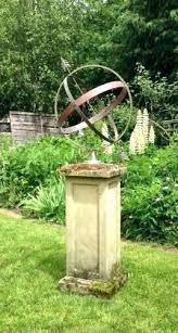 sphere garden and mossy base s ornament armillary on pedestal design la