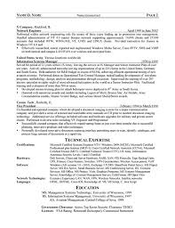 cto resume example information system officer resume