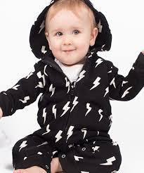 image trendy baby. Lightning Bolt All In One Trendy Baby Romper Image