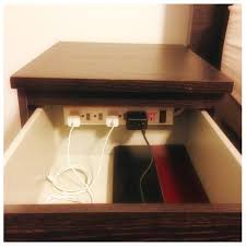 Hanging Charging Station Diy Charging Station In Nightstand Banish Clutter