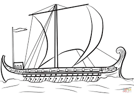 Ancient Greek Ship coloring page | Free Printable Coloring Pages