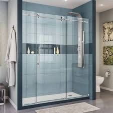 custom clear tempered glass shower