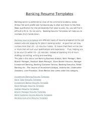 Banking Executive Resume Resume Bank Resume Samples 19