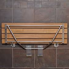 collapsible shower bench teakworksu wall mount fold shower bench american teak