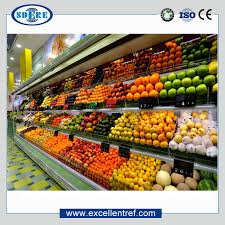 Fruit And Vegetable Stands And Displays Interesting Stand Open Cooling Display Cabinet For Fruits And Vegetables In