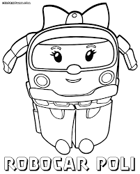 robocar poli coloring pages to and print