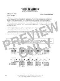 Hello Bluebird Based On Bye Bye Blackbird Guitar Chord