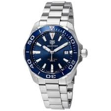 tag heuer watches jomashop tag heuer aquaracer blue dial men s watch