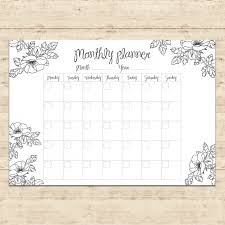 monthly planner free download monthly planner design vector free download