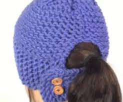 Free Crochet Ponytail Hat Pattern Custom Learn To Loom Knit A Ponytail Hat Loom Knitting Videos