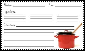 Recipe Blank Template Printable Recipe Cards Template Download Them Or Print
