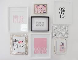 feminine chic wall collage