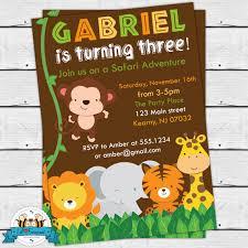 Safari Party Invitations Safari Birthday Party Invitation Printable Invitation