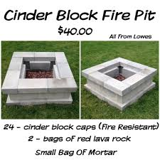 ... Great Sample Using Cinder Blocks For Fire Pit Interior ...