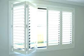 bi fold plantation shutters traditional white one story wood for sliding glass doors window cost louvered bifo