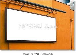 blank advertising billboard on