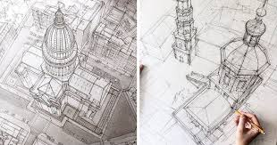 Interesting Architecture Drawing Png These Freehand Architectural Sketches Show On Inspiration