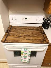 top plans topper noodle covers diy cutting master stove wooden decorative counter gap gas for primitive board range ideas burner s wood target tray handle
