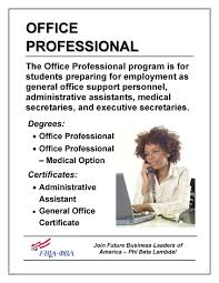Administrative Professional Certificate Office Professional