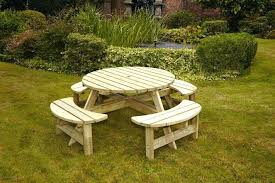 round wooden picnic table wood picnic tables for round wood picnic table kit small round