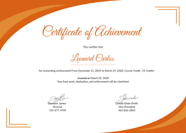 Printable Achievement Certificates Certificate Of Achievement Template 9 Free Word Pdf Psd Format