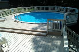 square above ground pool. Wood Deck Above Ground Pool Kits Square