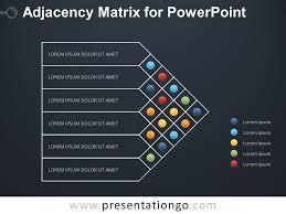 Matrix Chart Powerpoint Adjacency Matrix Diagram For Powerpoint Presentationgo Com