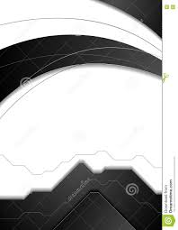 Abstract Black White Corporate Vector Flyer Background Stock Vector
