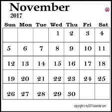 November calendar events 2017 free download