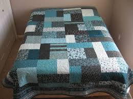 Teal and Brown Turning Twenty Queen Quilt | QUILTING IDEAS ... & Teal and Brown Turning Twenty Queen Quilt Adamdwight.com