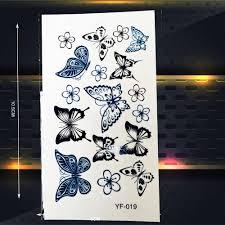 красочные 3d бабочки водостойкие татуировки наклейки женщины временная