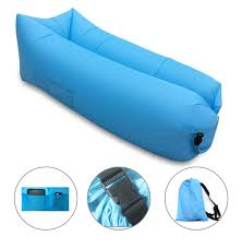 inflatable lounge furniture. Blue Fast Inflatable Lounger Air Filled Balloon Sofa Bed Furniture Lounge