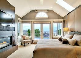 Contemporary Home Master Suite Fireplace