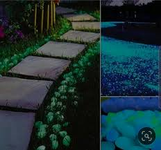 glow in the dark garden stones pebbles many diffe colours