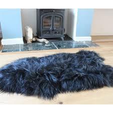 icelandic sheepskin rug hide black