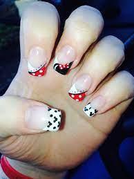 Disney Nail Art Minnie Mouse | Mickey nails, Disney nails, Minnie mouse  nails