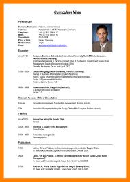 Cv Format Pdf Sample Resume Example Curriculum Vitae Of New