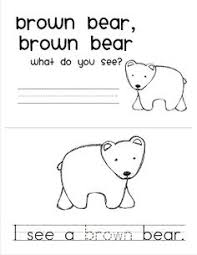 Brown Bear Brown Bear What Do You See Words Free Brown Bear Brown Bear Printables From Www 1plus1plus1equals1