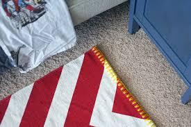 red chevron rug