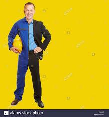 smiling man doing job change from blue collar worker to white smiling man doing job change from blue collar worker to white collar manager