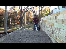 Small Picture Ohio Valley Group timber retaining wall YouTube