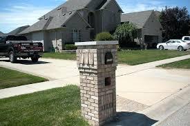 Stone Mailboxes Designs Stone Mailbox Stone Brick Mailbox Designs