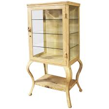 Metal Glass Display Cabinet Antique Metal And Glass Apothecary Medical Storage Cabinet