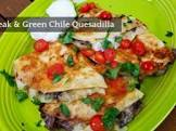 beef and green chile quesadillas