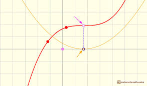 cubic functions inflection point that is also an stationary point