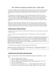 Mla Modern Language Association Style A Basic Guide Pages 1 4