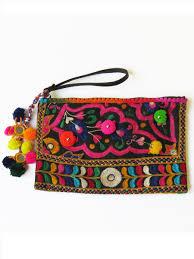 Pom Pom Purse Designer Buy Tribal Hand Embroidered Hippe Purse Bag With Pom Pom