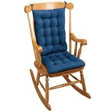 blue rocking chair. Rocking Chair Cushion - Blue Amazon.com